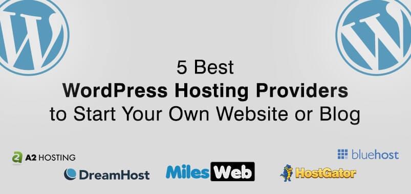 5 Best WordPress Hosting Providers to Start Your Own Website or Blog_Ncode